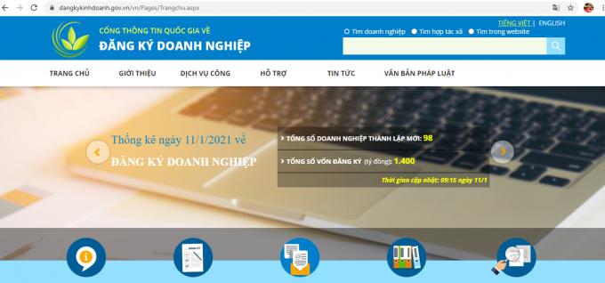 Hướng dẫn đăng ký doanh nghiệp qua mạng chi tiết